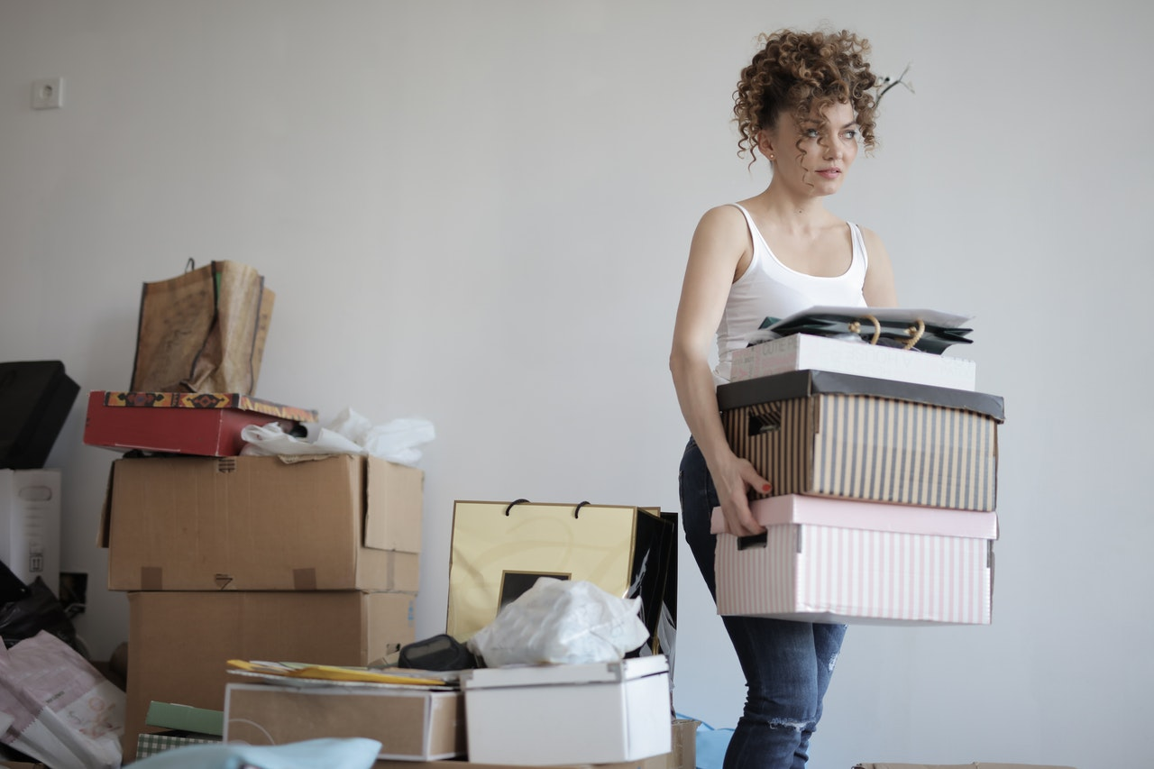 Preparing to sell your home by decluttering.