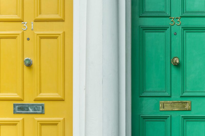 Preparing to sell your home by improving your front door.