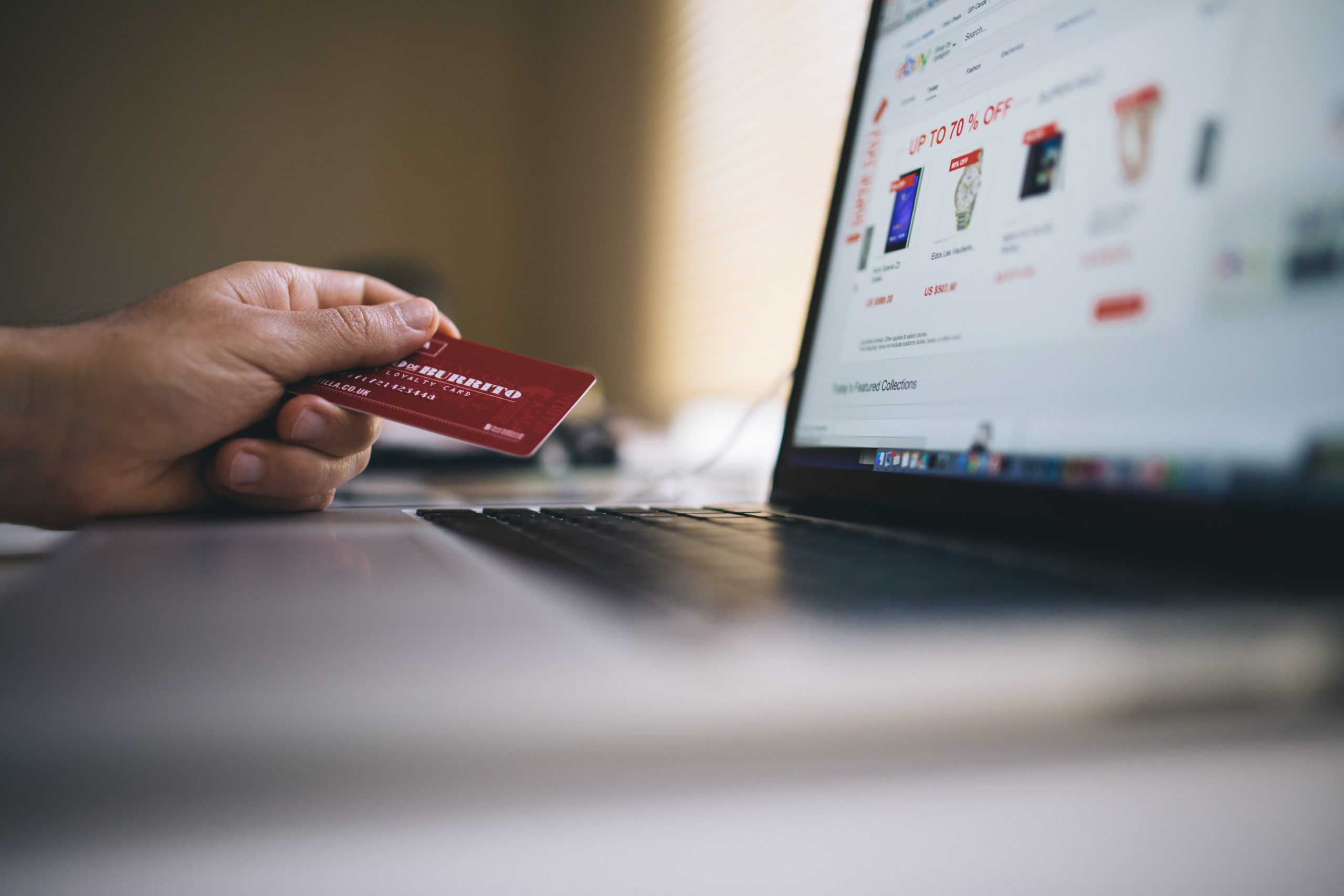 A shopper changing their address on online shopping sites.